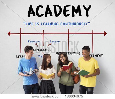 School Academy Institute Certification Arrow