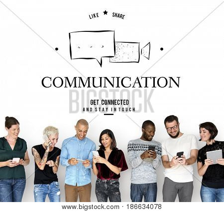 Social Media Chat Message Global Network Online Communication Speech Bubble Graphic