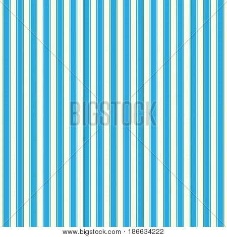 Vertical Strips on Blue Background, Seamless Pattern for Fabric and Wrapping Paper, Vector Illustration
