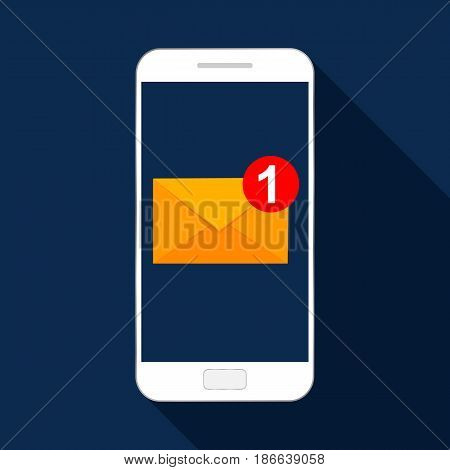 Mobile app icon. Email marketing. Flat design
