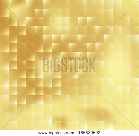 Abstract square mosaic tile yellow golden background vector