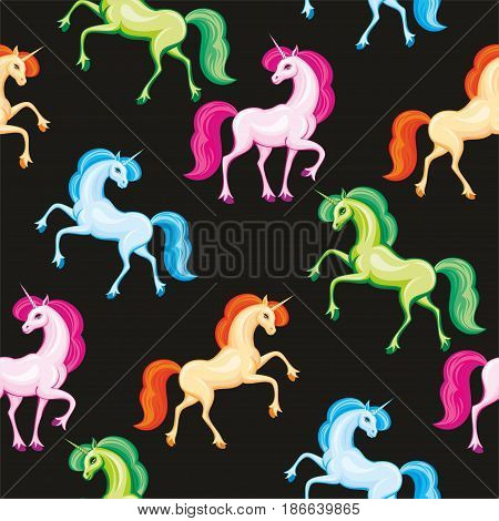 Multicolor Unicorn Pattern.eps
