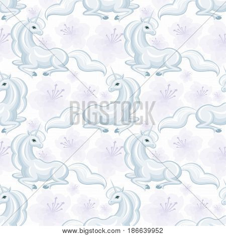 White Unicorn Pattern.eps