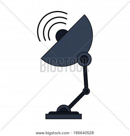 color image satellite antenna communication element vector illustration