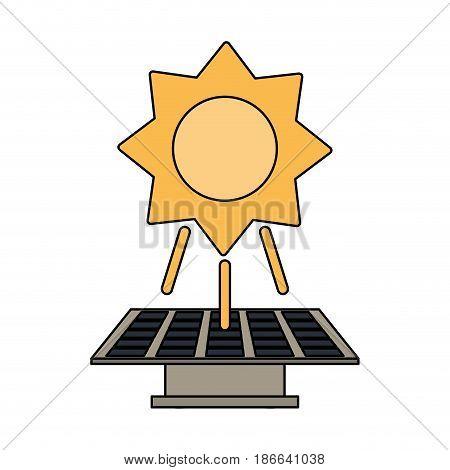 color image solar energy panel vector illustration