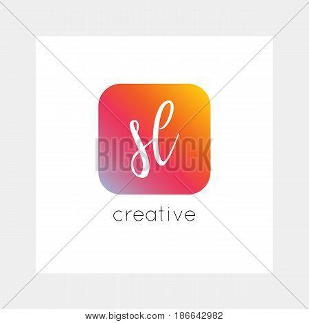Sl Logo, Vector. Useful As Branding, App Icon, Alphabet Combination, Clip-art.