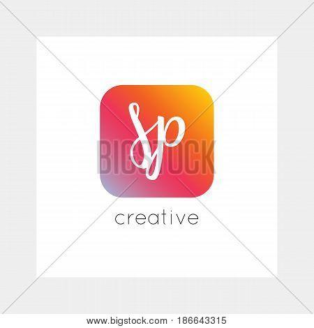 Sp Logo, Vector. Useful As Branding, App Icon, Alphabet Combination, Clip-art.