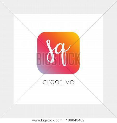 Sq Logo, Vector. Useful As Branding, App Icon, Alphabet Combination, Clip-art.