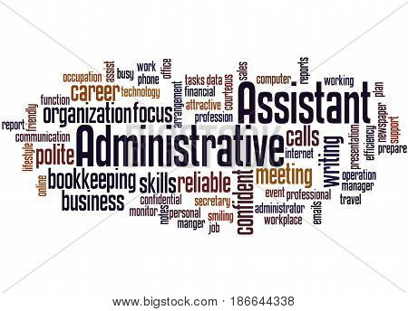 Administrative Assistant, Word Cloud Concept 2