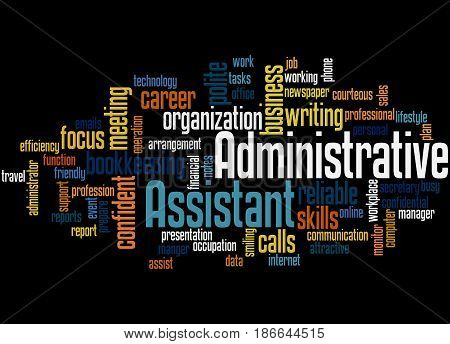Administrative Assistant, Word Cloud Concept 4