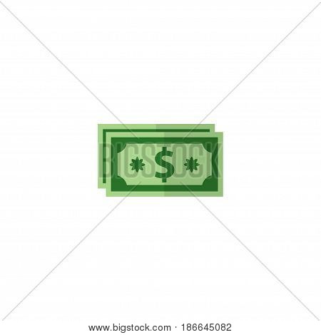 Flat Money Element. Vector Illustration Of Flat Cash  Isolated On Clean Background. Can Be Used As Cash, Coin And Money Symbols.