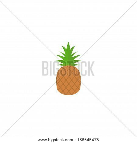 Flat Pineapple Element. Vector Illustration Of Flat Ananas Isolated On Clean Background. Can Be Used As Pineapple, Ananas And Fruit Symbols.