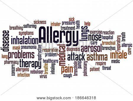Allergy Word Cloud Concept 2