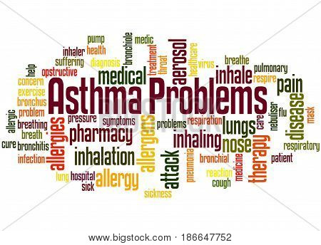 Asthma Problems, Word Cloud Concept 2