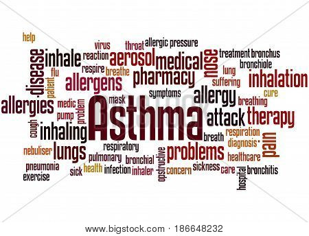 Asthma, Word Cloud Concept