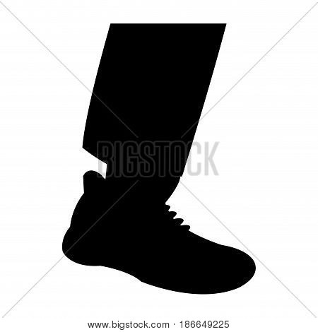 silhouette leg shoe man design vector illustration
