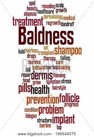 Baldness, Word Cloud Concept 5