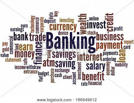 Banking, Word Cloud Concept 2