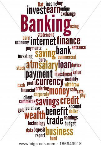 Banking, Word Cloud Concept 5
