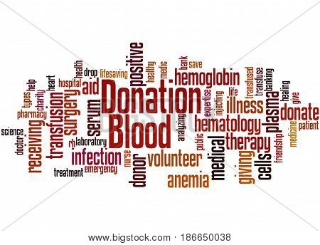 Blood Donation, Word Cloud Concept