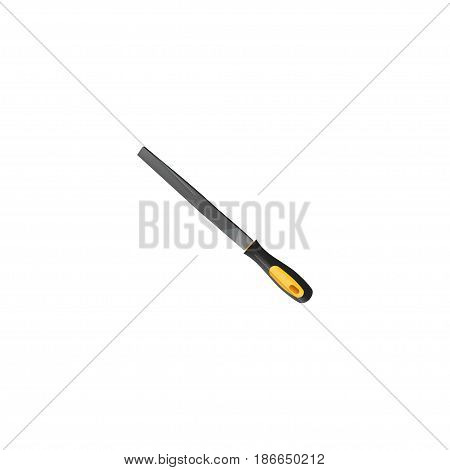Realistic Rasp File Element. Vector Illustration Of Realistic Sharpener Isolated On Clean Background. Can Be Used As Appliance, Emery And Tool Symbols.