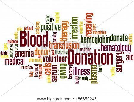 Blood Donation, Word Cloud Concept 3