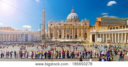 a view of the piazza san Pietro Italia