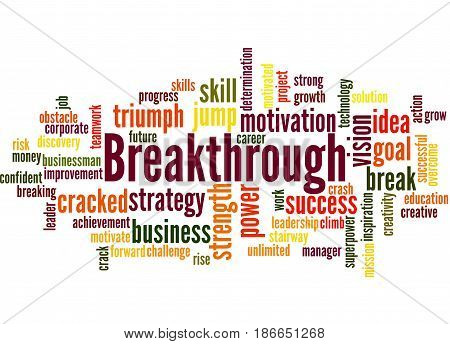 Breakthrough, Word Cloud Concept