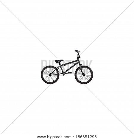 Realistic Bmx Element. Vector Illustration Of Realistic Extreme Biking Isolated On Clean Background. Can Be Used As Bmx, Extreme And Bike Symbols.