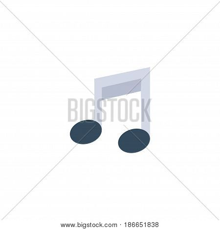 Flat Musical Note Element. Vector Illustration Of Flat Tone Symbol Isolated On Clean Background. Can Be Used As Note, Musical And Symbol Symbols.