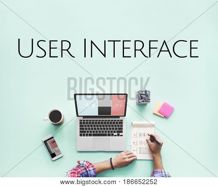 Website UI Template Layout Design Graphic Word
