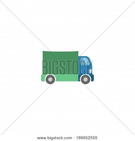 Flat Truck Element. Vector Illustration Of Flat Lorry Isolated On Clean Background. Can Be Used As Truck, Lorry And Freight Symbols.