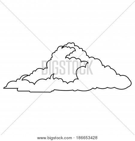 cloud climate weather cold outline vector illustration