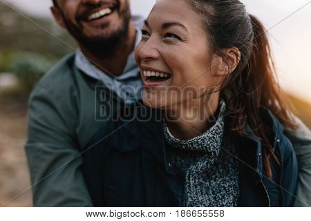 Couple Enjoying On Vacation