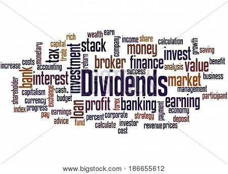 Dividends, Word Cloud Concept