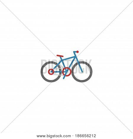 Flat Bike Element. Vector Illustration Of Flat Bicycle  Isolated On Clean Background. Can Be Used As Bike, Bicycle And Cycle Symbols.