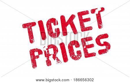 Ticket Prices rubber stamp. Grunge design with dust scratches. Effects can be easily removed for a clean, crisp look. Color is easily changed.