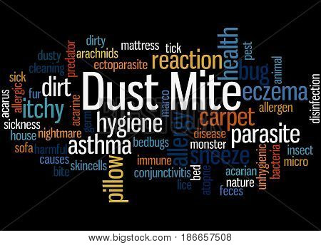 Dust Mite, Word Cloud Concept 4