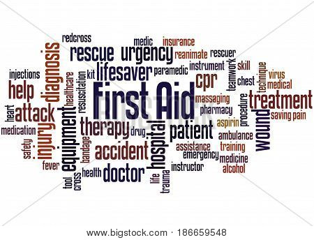 First Aid, Word Cloud Concept 2