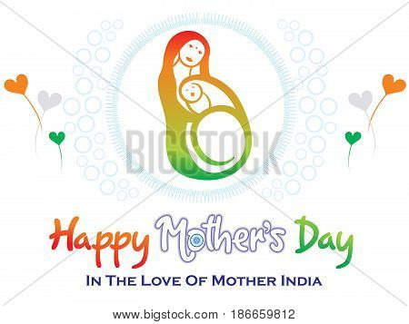 abstract artistic indian mothers day vector illustration