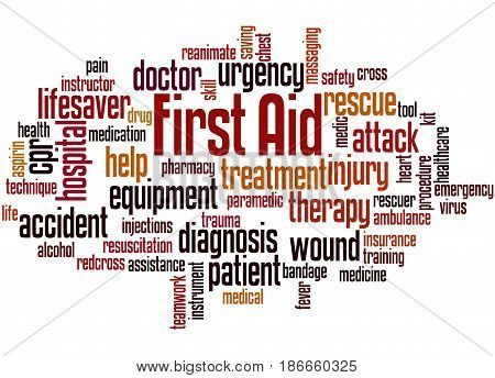 First Aid, Word Cloud Concept