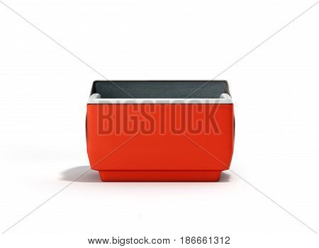 Open Refrigerator Box Red 3D Render On White Background