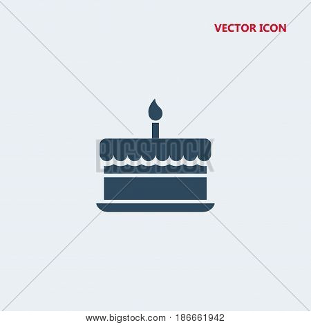 birthday cake with one burning candle Icon, birthday cake with one burning candle Icon Eps10, birthday cake with one burning candle Icon Vector, birthday cake with one burning candle Icon Eps