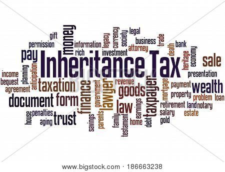 Inheritance Tax, Word Cloud Concept 4