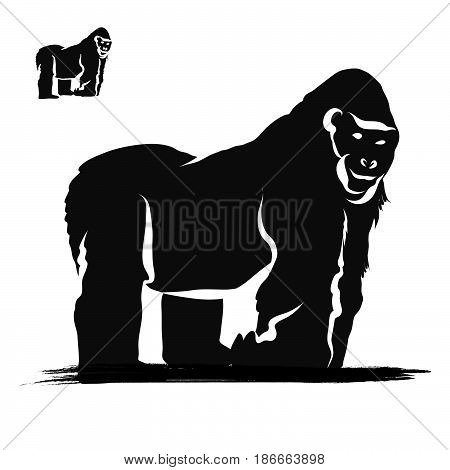 Strong Gorilla Silhouette