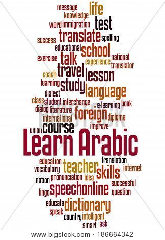 Learn Arabic, Word Cloud Concept