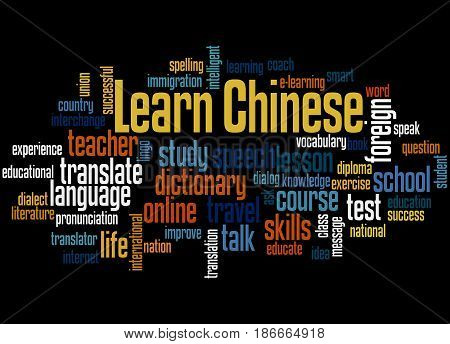 Learn Chinese, Word Cloud Concept 3