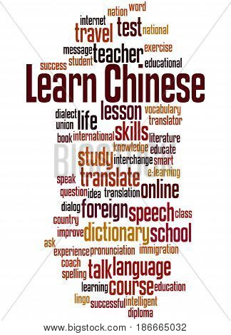 Learn Chinese, Word Cloud Concept 5