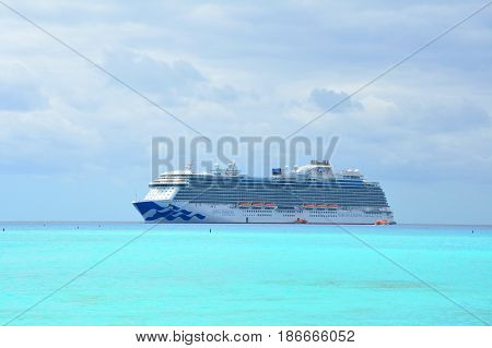 Scenic Ocean View On Cruise Ship