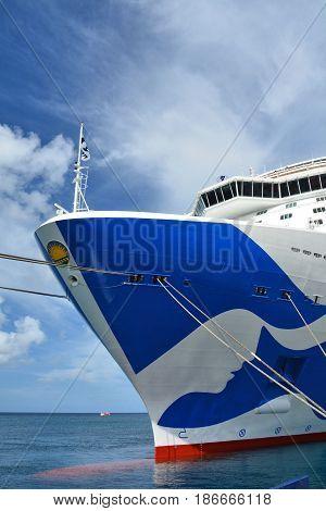 Royal Princess Ship In Grenada